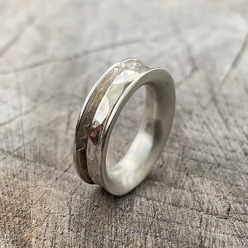 'Cotton Reel' Sterling silver ring