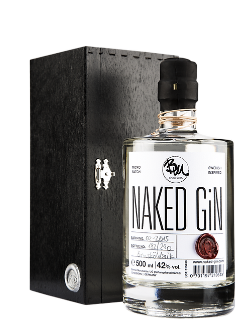 naked GiN - small batch premium GiN 42% in HK