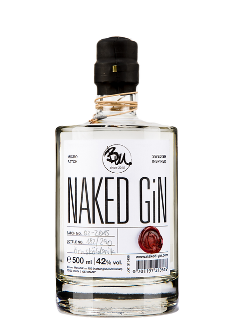 naked GiN - small batch premium GiN 42%