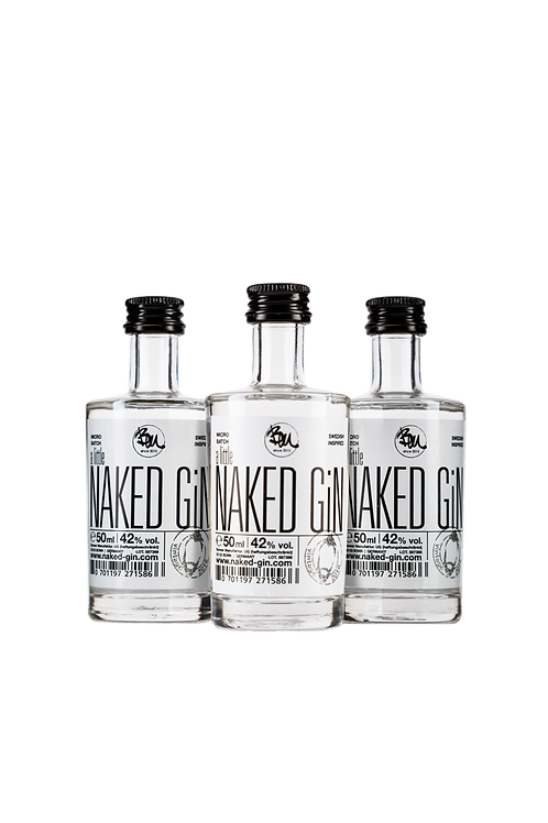 3 x a little naked GiN - small batch premium Gin 0,05l