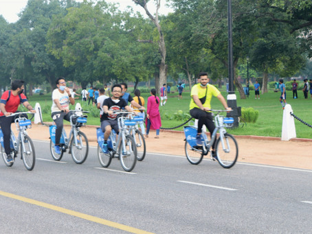 Long distance cycling in India