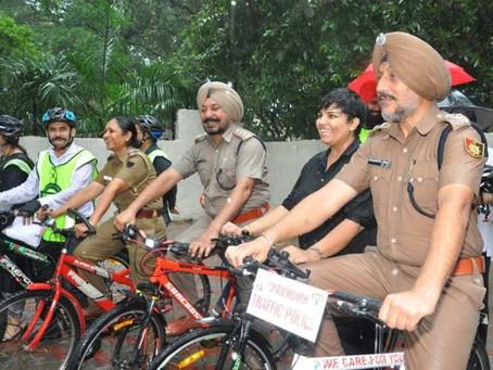bi-cycle cops in India?
