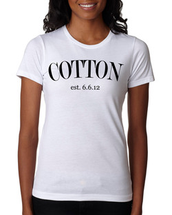 New  Female blk wht  Cotton