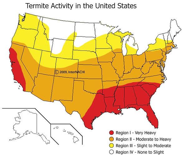 Regional Termite Activity