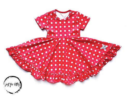 Just for Littles Red Polkadot
