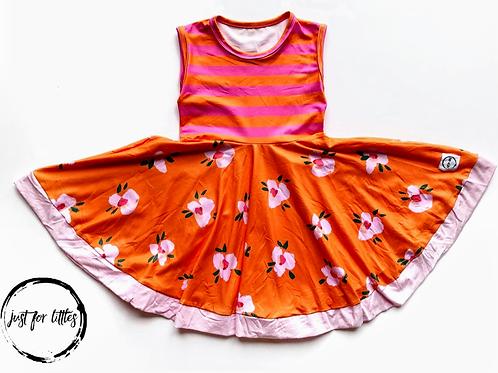Pink & Orange Stripe Dress