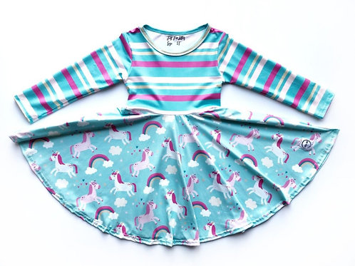 Just for Littles Striped Unicorn
