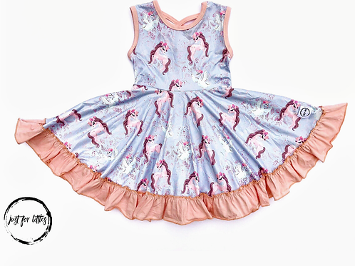 Just for Littles Horse & Swan Dress