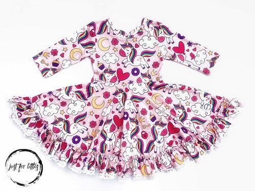 Just for Littles Pink Unicorn Dress