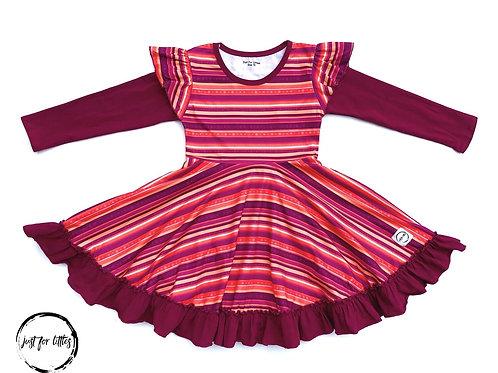 Just for Littles Burgundy Stripe