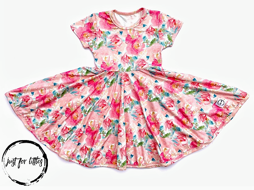Just for Littles Watercolor Floral Dress
