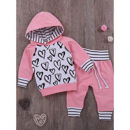 Pink & Black Hearts