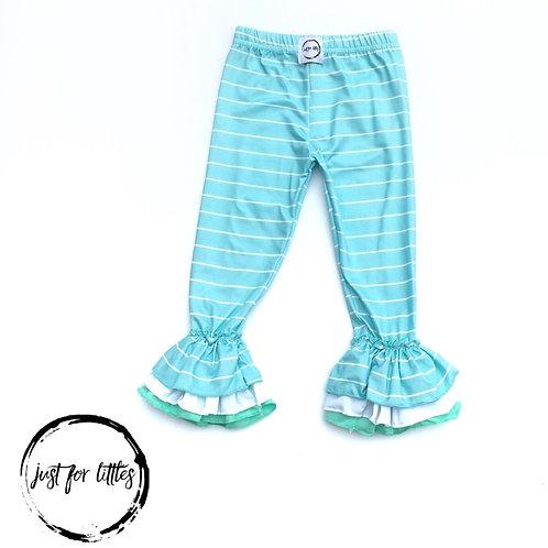Just for Littles Mint Stripe Leggings