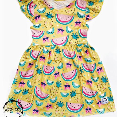 Summer Fruit Sun Dress