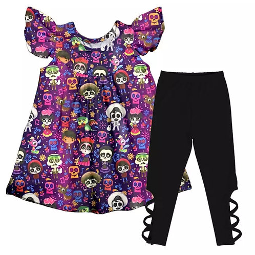 LoveTinyToes Day of the Dead Flutter Set