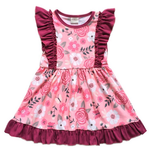 LoveTinyToes Rose Ruffle