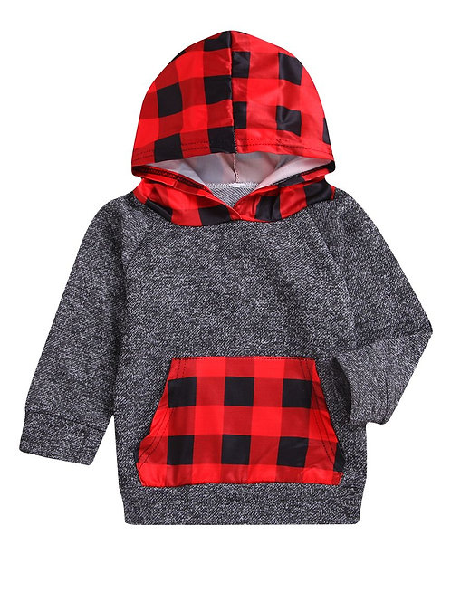 Red Check Hoodie