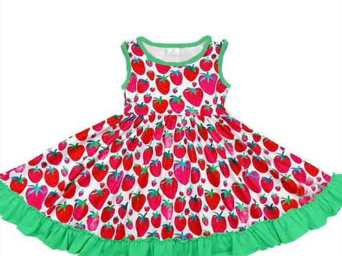 Love Tiny Toes Strawberries Twirler