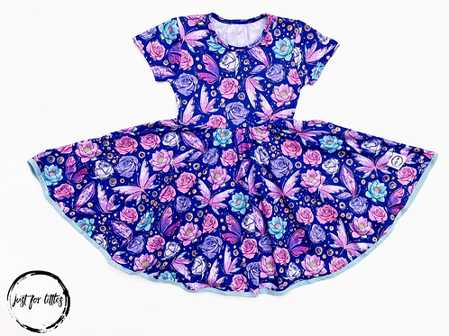 Just for Littles Purple Butterfly Dress