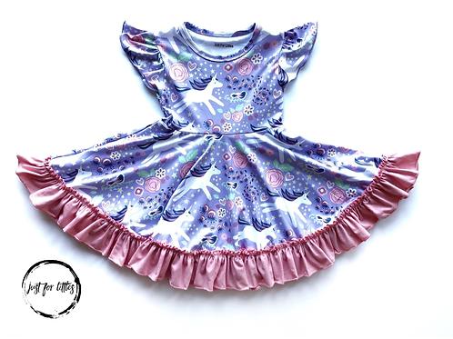 Just for Littles Purple Unicorn Dress
