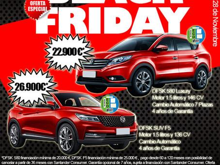 Llega el Black Friday a DFSK Málaga con importantes descuentos en sus modelos DFSK 580 y DFSK F5