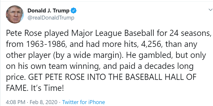 Donald Trump Was Wrong About Pete Rose