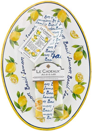 Lemon Basil Salad  Serving Platter Set