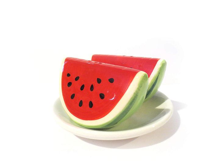 Watermelon Salt & Pepper Shaker Set