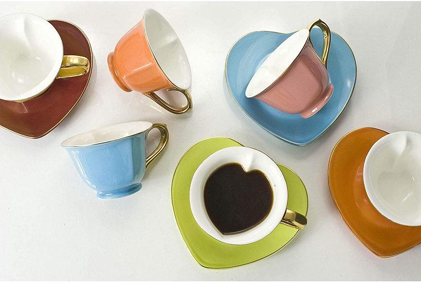 Heart Cup & Saucer Set