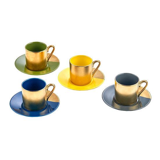 Gold Embossed Espresso Set