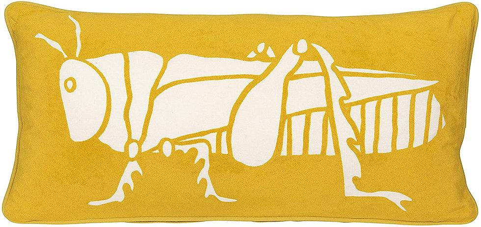 Grasshopper Decorative Velvet Pillow