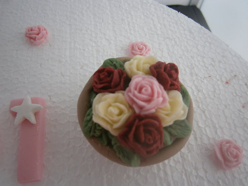 Beautiful Mother's day flower pot, message & roses