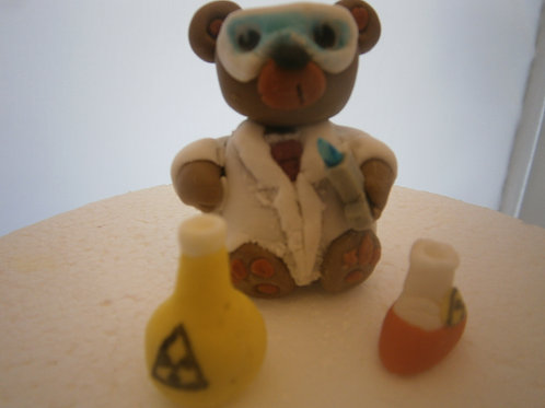 Cute Scientist bear, name and age
