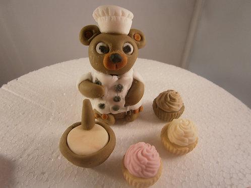 Cute chef cake topper