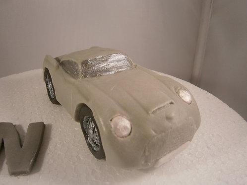 Silver sports car