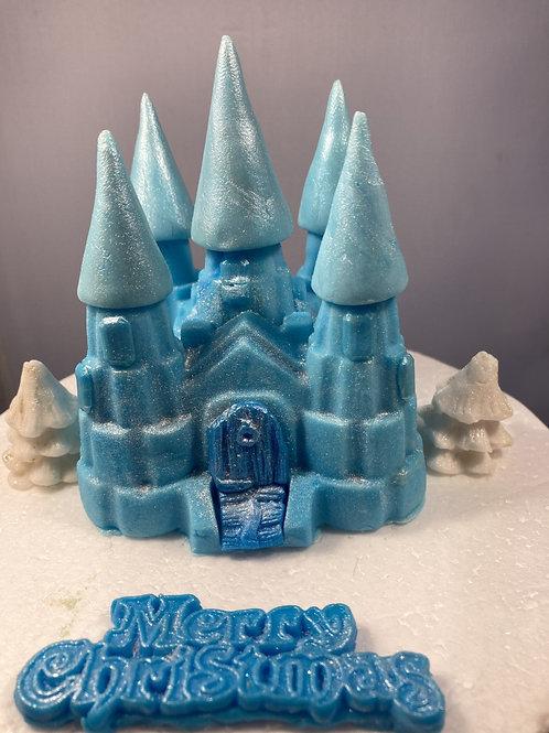 'Frozen blue' Christmas fairy castle