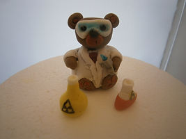 handmade edible bear cake topper for a s