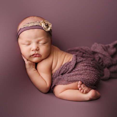 Newborn Portraits - Girl in Purple