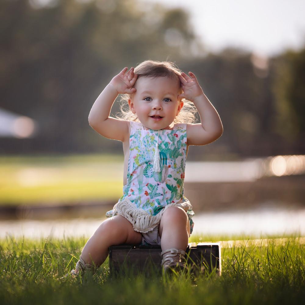 Milestone Photographer - Baby photo shoot - 18 month Portraits