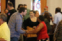 Moments of Fellowship at Remedy Chuch during a Sunday Worship Experience