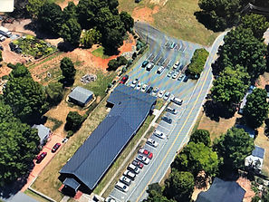 An aerial view of Remedy Church in Concord, NC