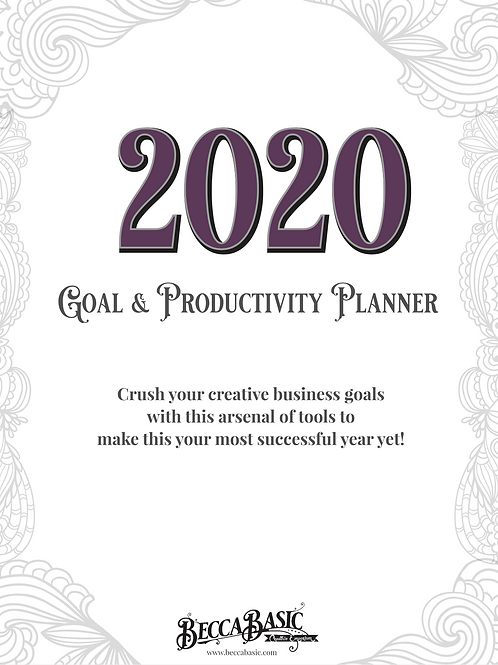 2020 Goal and Productivity Planner