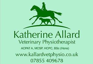 Katherine Allard Vet physio Chew Stoke, Chew Magna, Langford, Bristol, Bath,