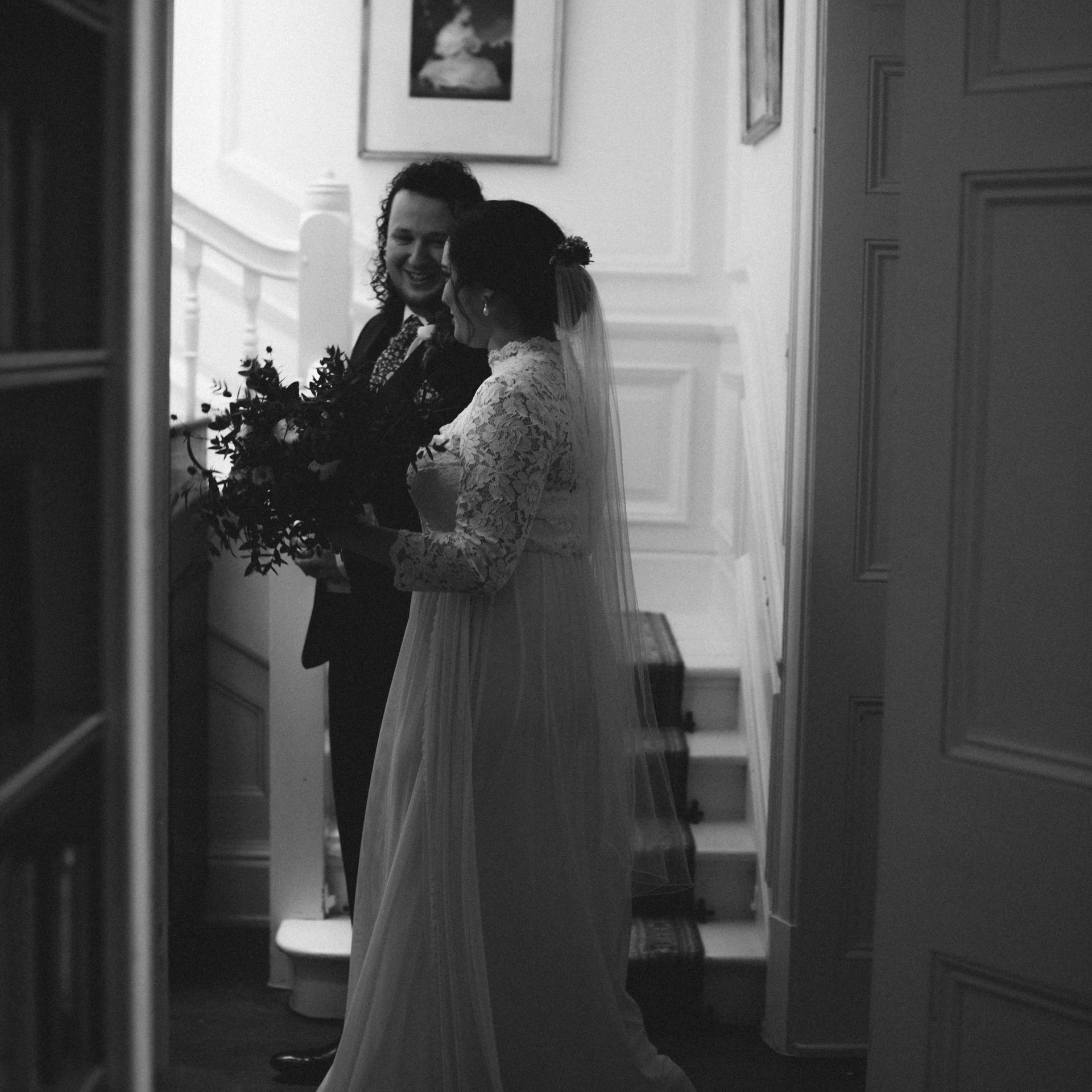 Winter wedding by the sea at Porthpean House