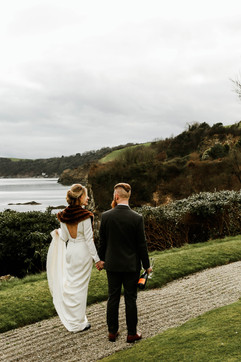 Winter wedding by the sea