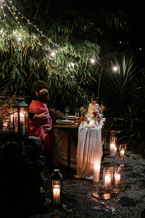 Romantic styled dining at Fallen Angel