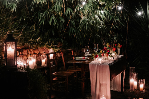 Evening dining outside at Fallen Angel