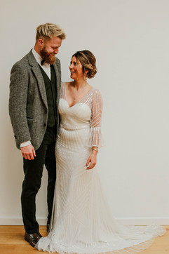 Art gallery elopement wedding