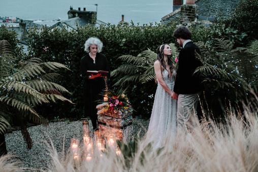 Ceremony in the garden Fallen Angel