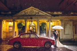 Roman Baths exterior intimate wedding Bath